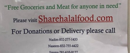 The masjid is providing free halal meat